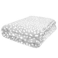 Bambury King Cosmos Ultraplush Blanket (Silver)