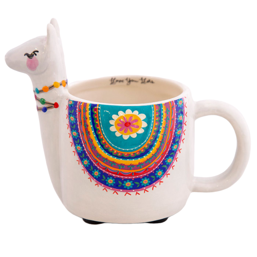 Natural Life: Folk Mug - Grey Llama