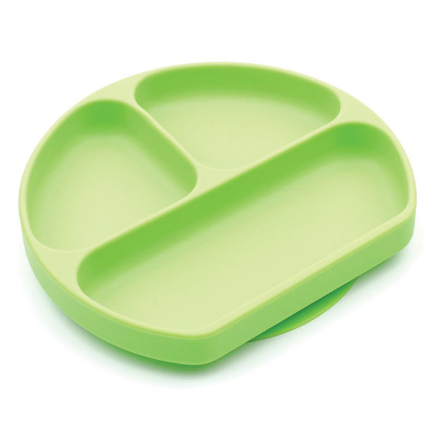 Bumkins: Silicone Grip Dish - Green