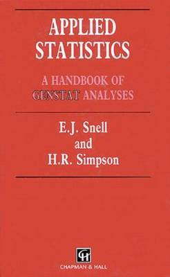 Applied Statistics by E. J. Snell image