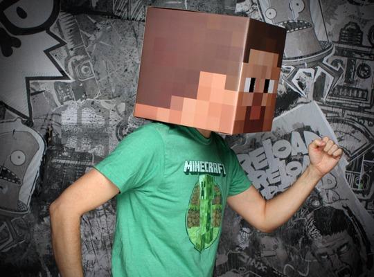 Minecraft Steve Head Cardboard Prop Replica image