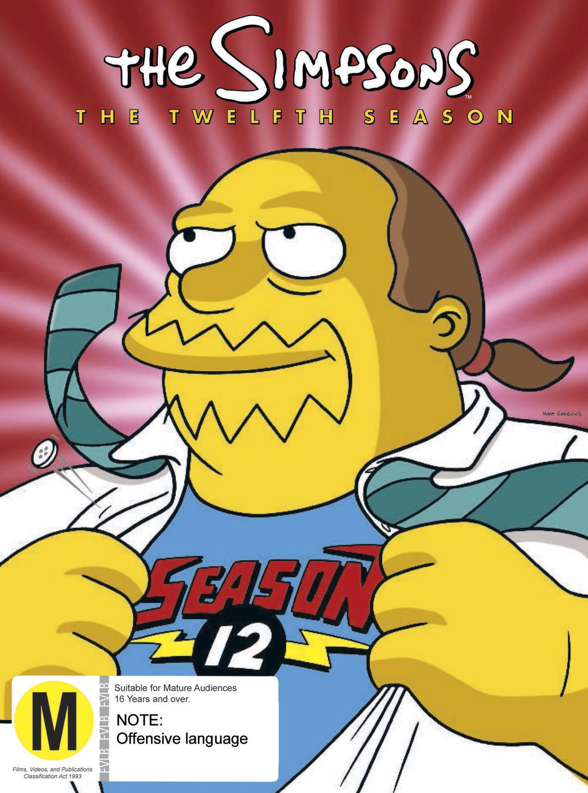 The Simpsons - The Twelfth Season on DVD image