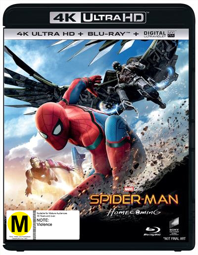 Spider-Man: Homecoming on Blu-ray, UHD Blu-ray, UV image