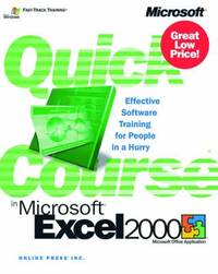 Quick Course in Microsoft Excel 2000 by Microsoft Corporation image