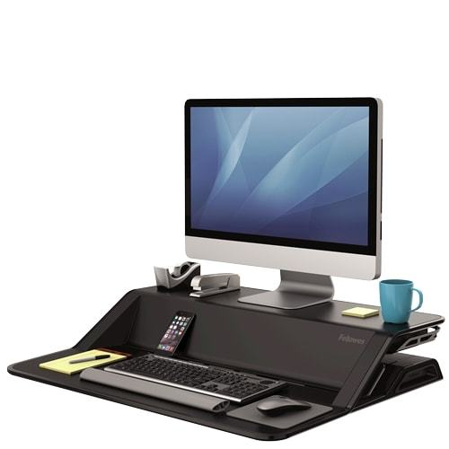 Fellowes Sit Stand Workstation - Lotus™ - Black