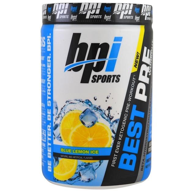 BPI Sports Keto Best Pre-Workout - Blue Lemon (30 Serve)