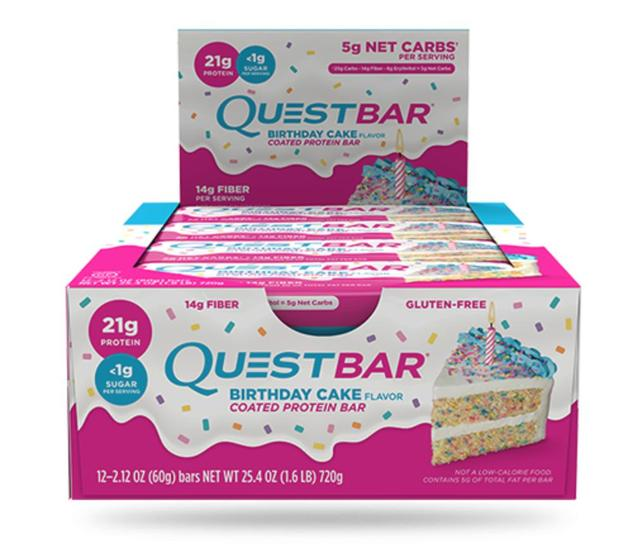 Quest Nutrition - Quest Bar Box of 12 (Birthday Cake)