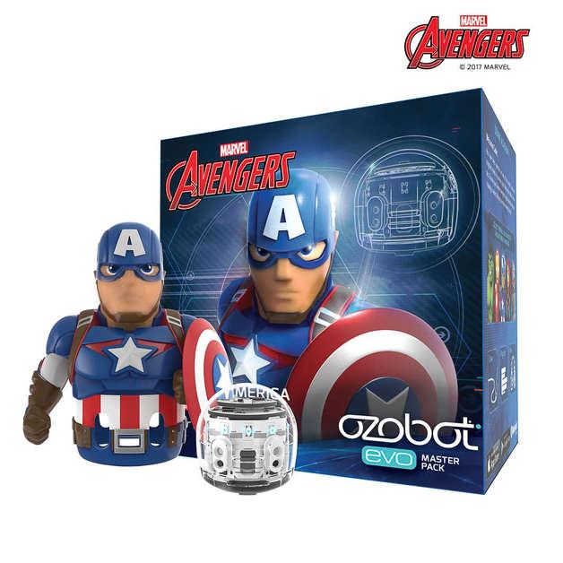 Marvel: Ozobot Evo Master Pack - Captain America