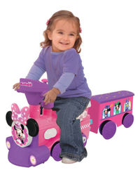 Kiddieland: Powered Train Activity Ride-On - Minnie Mouse image