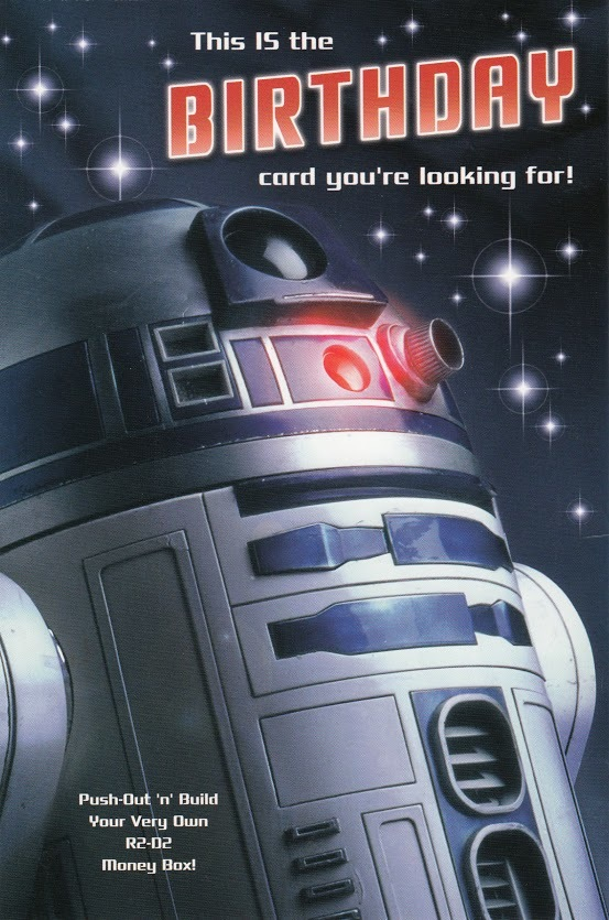 Star Wars: Deluxe Birthday Card With Build-Your-Own Pop Out - R2D2 image