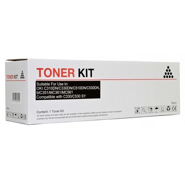 Icon Compatible OKI C310/C330/C510/C530 Black Toner Cartridge