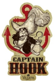Disney Villains Travel Sticker - Captain Hook