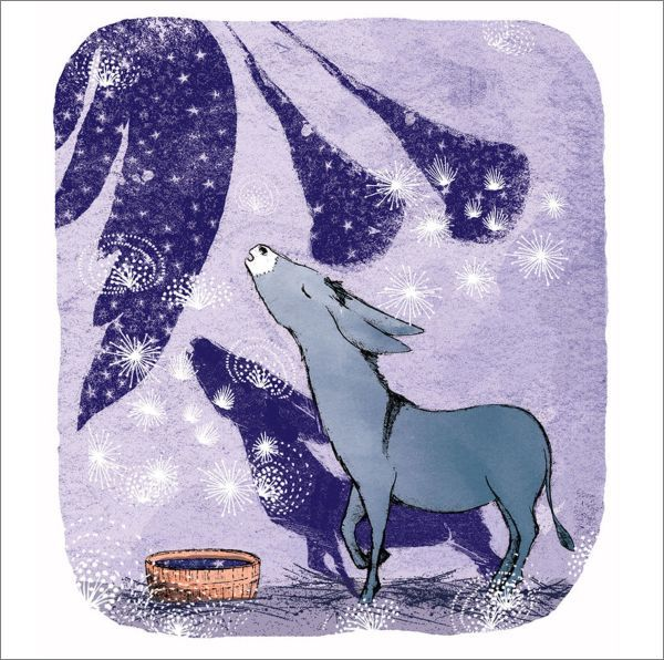 Canns Down Press: Boxed Christmas Cards - Donkey Rejoicing image