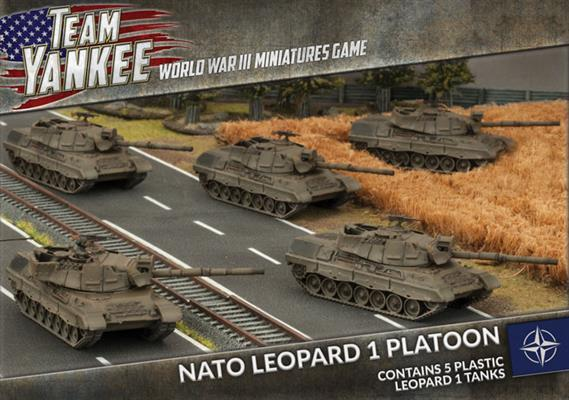 Team Yankee: Leopard 1 Tank Platoon (Plastic)