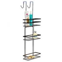 Black Onyx: Overscreen Shower Caddy (3 Shelves)