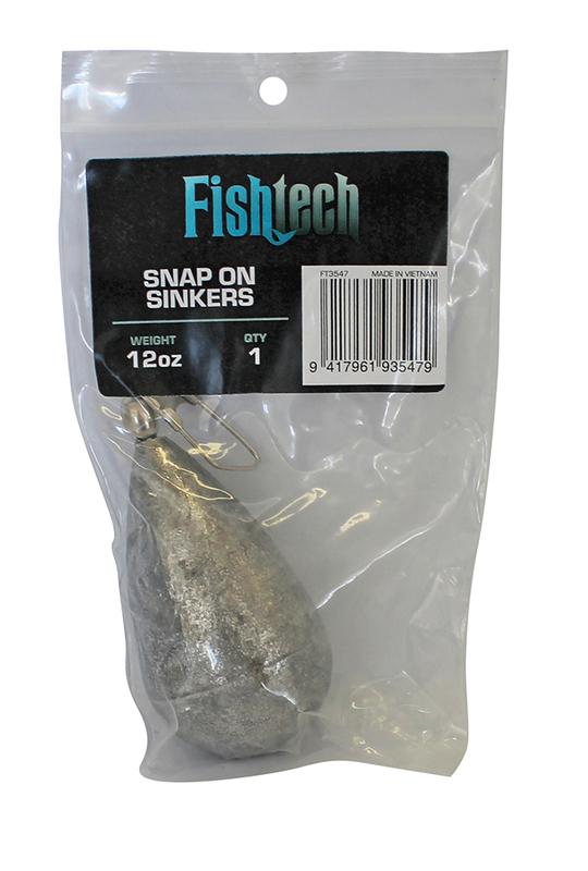 Fishtech Snap On Sinker 12oz (1 per pack)