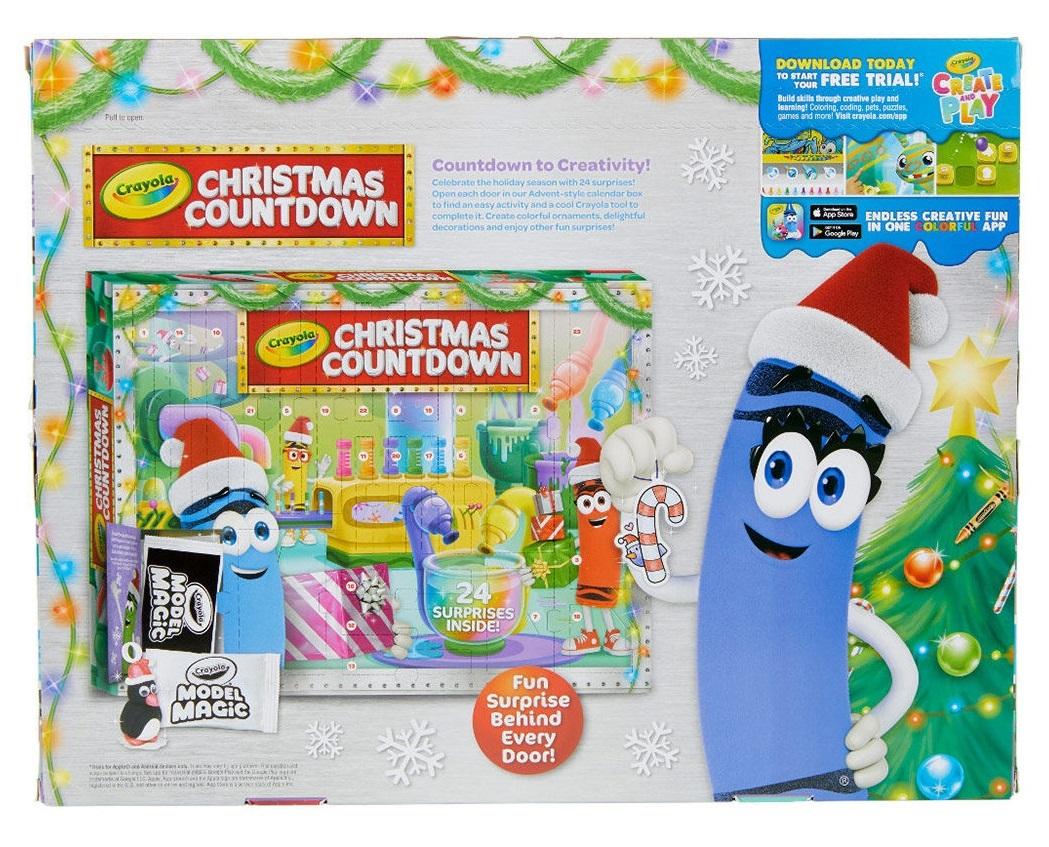 Christmas Countdown 2019.Crayola Christmas Countdown Advent Calendar 2019