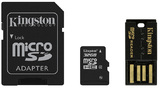 32GB Kingston - MicroSDHC Mobility Kit (Memory Card/SD Adapter/USB reader) (Class 4)