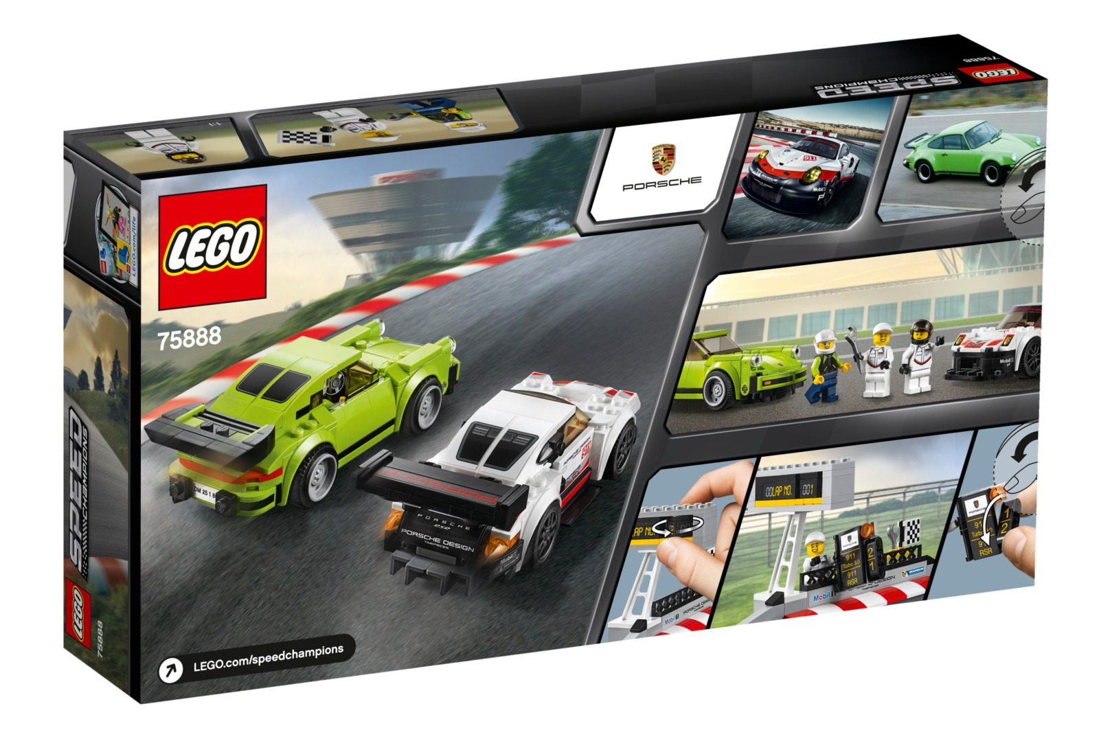 lego speed champions porsche 911 rsr and 911 turbo 3 0 75888 toy at mighty ape nz. Black Bedroom Furniture Sets. Home Design Ideas
