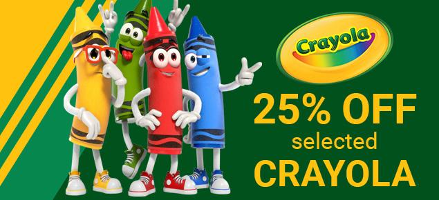 Crayola Deals - 25% off select Crayola items!