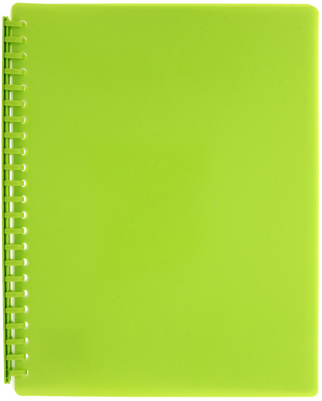FM A4 20 Pocket Vivid Refillable Display Book - Lime Green