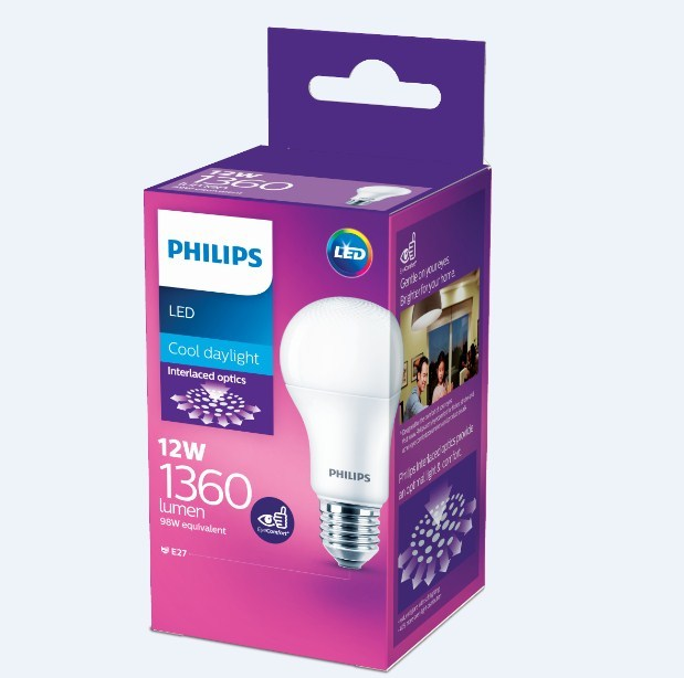 Philips: LED Bulb 12W E27 6500K