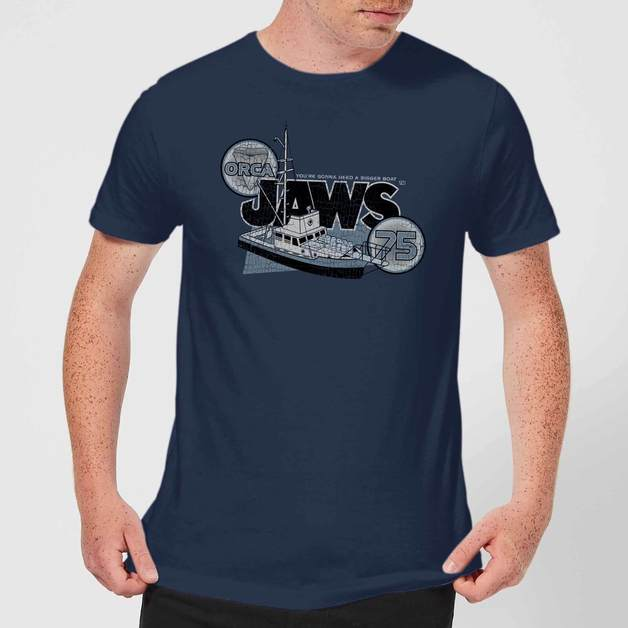 Jaws: Orca 75 T-Shirt - Navy/XX-Large