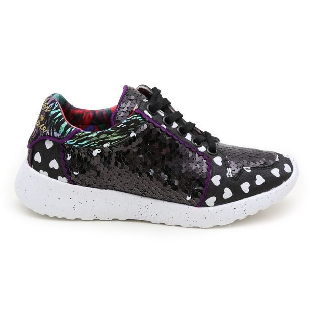 Irregular Choice: Run the World Black - Size 38 EU