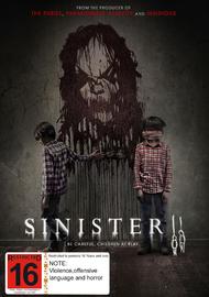 Sinister 2 on DVD