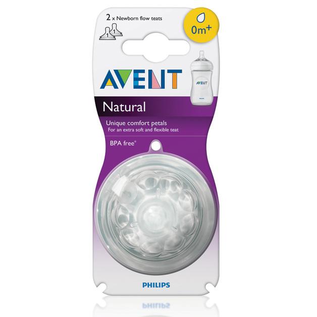 Avent Natural Newborn Flow Teat (2pk)