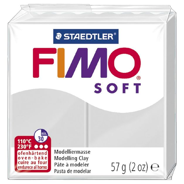 Staedtler Fimo Soft Modelling Clay Block - Dolphin Grey (56g)