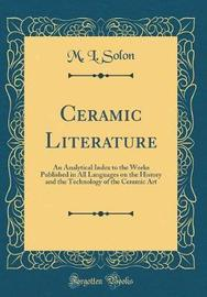 Ceramic Literature by M.L. Solon image