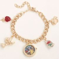 Beauty & the Beast - Watch Charm Bracelet