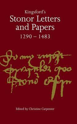 Kingsford's Stonor Letters and Papers 1290-1483 image