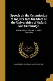 Speech on the Commission of Inquiry Into the State of the Universities of Oxford and Cambridge; Volume Talbot Collection of British Pamphlets image
