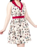 Sourpuss Kewpie Seahorse June Dress (Medium)