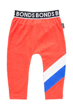 Bonds Sport Stretchy Leggings - Stripe Slay Red (6-12 Months)
