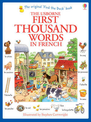 First Thousand Words in French by Heather Amery image