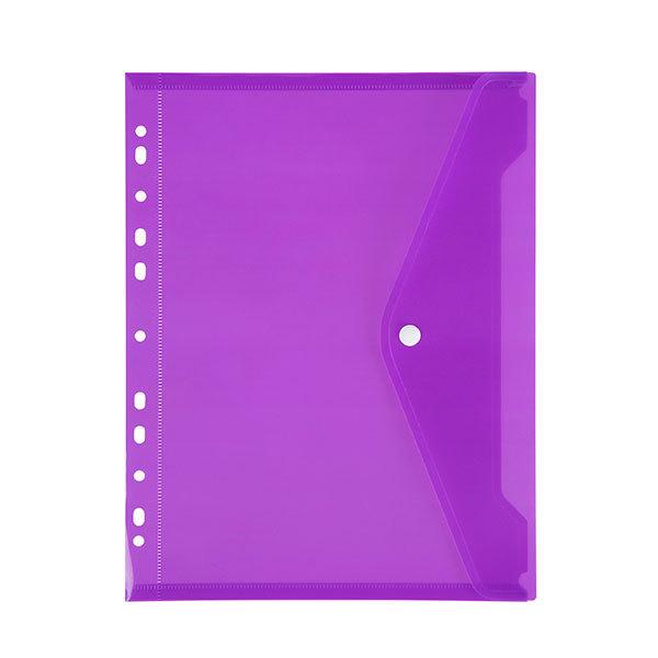 Marbig: Binder Pocket with Button Closure - Purple
