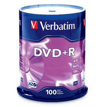 Verbatim DVD+R 4.7GB 100Pk Spindle 16x image