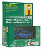 Corgi Haynes Subaru Impreza 1:43 Scale Book and Die Cast Vehicle Gift Set