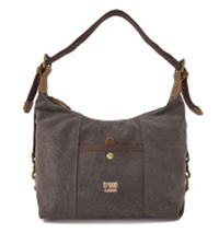 Troop London: Dalton Shoulder Bag - Washed Black