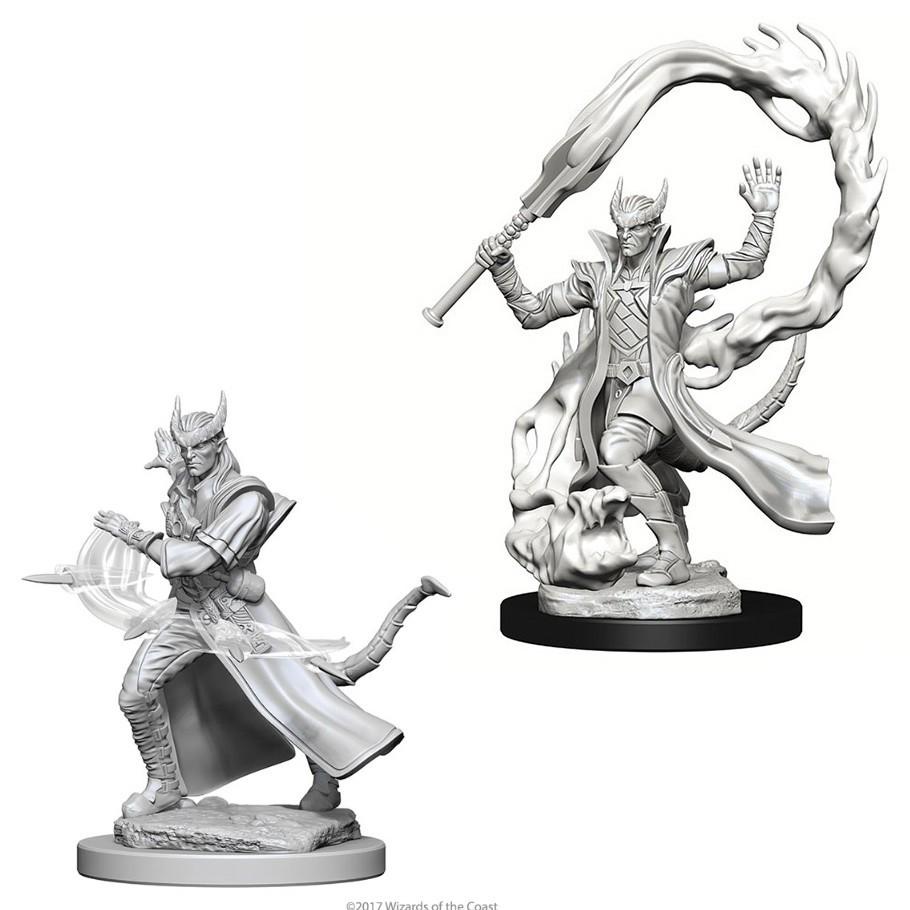 D&D Nolzur's Marvelous: Unpainted Miniatures - Tiefling Male Sorcerer image