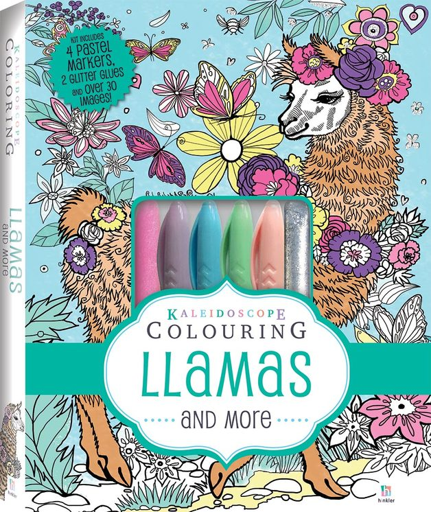 Kaleidoscope: Colouring Kit - Llamas and More