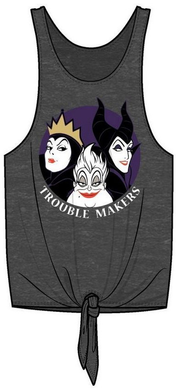 Disney Villains: Trouble Makers Tie Front Tank (XL)