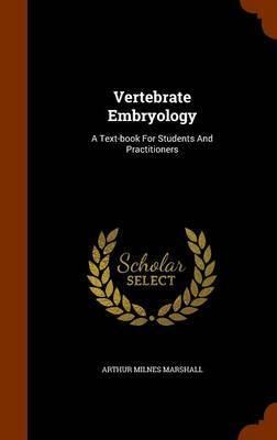 Vertebrate Embryology by Arthur Milnes Marshall image