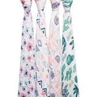 Aden + Anais: Classic Swaddle - Trail Blooms (4 Pack) image