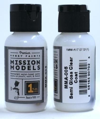 Mission Models Paint Semi Gloss Clear Coat (29ml)