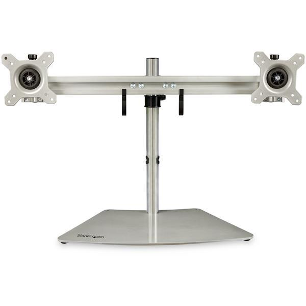 StarTech Horizontal Dual Monitor Stand Silver