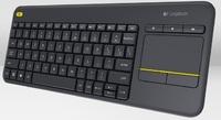 Logitech K400 Plus Wireless Touch Keyboard - Black